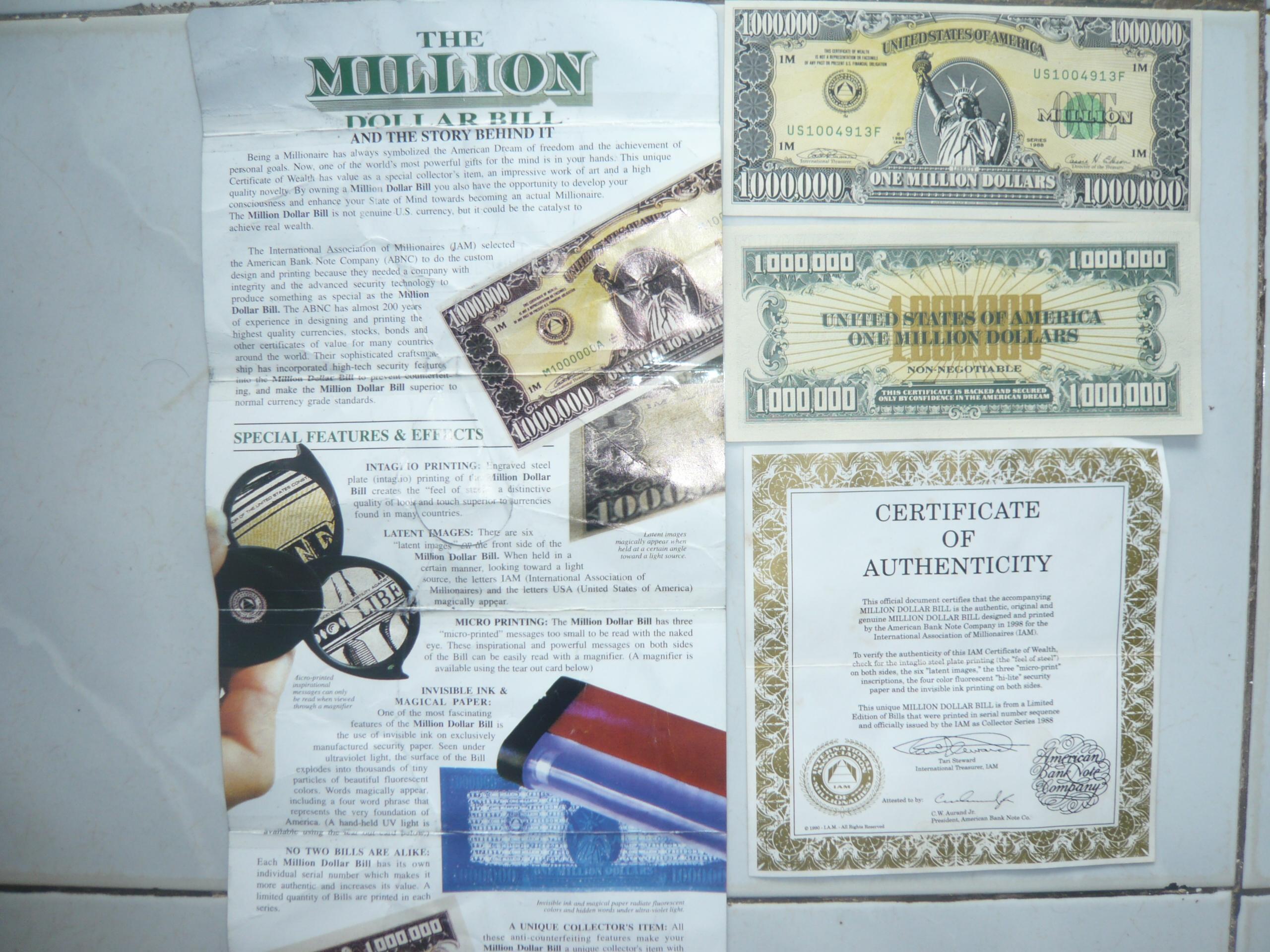 Uang 1 Juta Dollar Amerika Abu Dzakwan S Blog